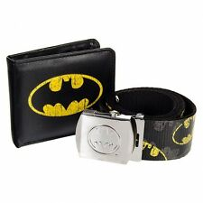 Batman Comic Print Wallet and Belt Box Set Brand New
