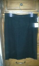 MOSCHINO CHEAP AND CHIC BLACK TEXTURED COTTON SKIRT NWT