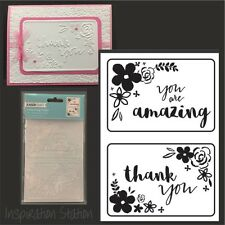MINI FLORAL CARD FRONTS folder KAISERCRAFT embossing folders EF261 words,phrases