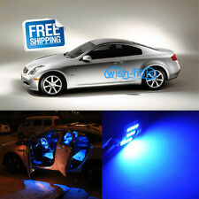 7x New Blue LED Lights Interior Package Deal for 2003-2007 Infiniti G35 Coupe