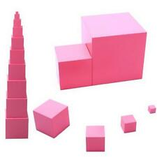 10 Pcs Montessori Sensorial Material Family Set - Montessori Mini Pink Tower C