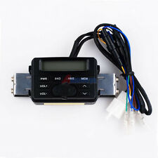 Waterproof Motorcycle FM radio AMP AUX in Audio Out iPhone/iPod/MP3 player Clock
