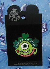 A10 DISNEY PIN  CARDED ST PATRICK'S DAY MONSTERS INC MIKE KISS ME I'M IRISH