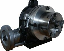 """100 mm 3 Jaw Chuck and Mounting Plate to Suit Soba 6"""" HV6 ROTARY TABLE ETC"""