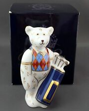 Royal Crown Derby GOLFER BEAR Paperweight - 1st Quality Boxed