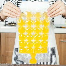 10Pcs Disposable Ice Bags Ice Cube Tray Mold Cold Drink Ice-making Bags 30*19cm