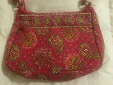 New Direction Pink Paisley Hobo Shoulder Bag Purse with Matching Coin Wallet