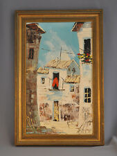 Francisco Paya Sanchis 1882-67 Oil Painting Spain Village Pueblo Olacau Valencia