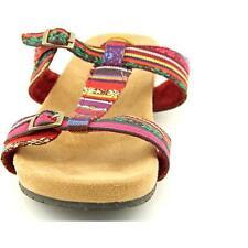 Minnetonka Raz Women US 9 Red Slides Sandal Pre Owned Blemish  1143