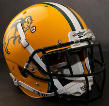 *CUSTOM* NORTH DAKOTA STATE BISON NDSU Schutt XP REPLICA Football Helmet w/EGOP