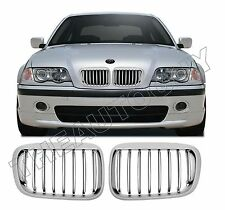 1999 2000 2001 BMW E46 323 328 I 4 DOOR SEDAN REPLACEMENT CHROME ABS GRILL