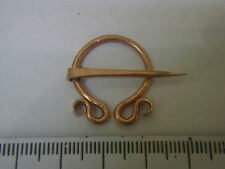set of 2 anglo saxon viking roman penannular brooch 20mm diameter in copper