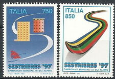 1997 ITALIA CAMPIONATI MONDIALI SCI SESTRIERE MNH **