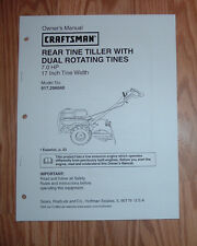CRAFTSMAN 917.296040 TILLER OWNERS MANUAL WITH ILLUSTRATED PARTS LIST