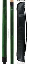 BRAND NEW MCDERMOTT LUCKY L3 GREEN TWO PIECE BILLIARD POOL CUE STICK & FREE CASE