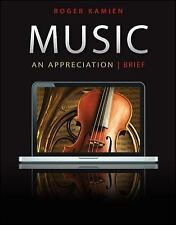 Music : An Appreciation by Roger Kamien (2012, Paperback, Brief Edition)