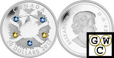 2013 'Holiday Wreath' Crystalized Proof $20 Silver Coin 1oz .9999 Fine (13299)NT
