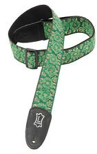 Levy's M8 Asian Green Jacquard Weave Guitar Strap