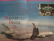 10/1990 ARTICLE + 5 PAGES MCDONNELL DOUGLAS MD-11 AIRLINER CUTAWAY ECORCHE