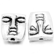 30x Tibetan Silver Tone Alloy Double Face Metal Charms Spacer Bead Fit Jewelry J