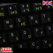 Spanish Transparent Keyboard Stickers With Yellow Letters For Laptop PC Computer