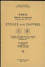Catalogue des Oblitérations  étoiles chiffrées de Paris