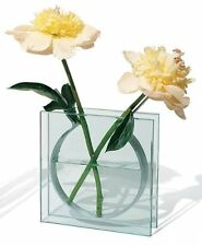 MOMA Glass Ribbon Modern Contemporary Flower Aluminum Outline Vase Display