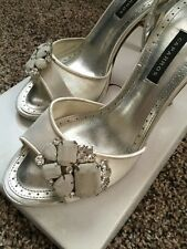 Caparros Ivory Silk Shoes, Wedding Prom Shoes, Size 8
