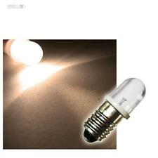 10x E 10 LED-Lampen WARMWEISS 12V LEDs BIRNE Sockel E10