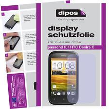 1x HTC Desire C Schutzfolie klar Displayschutzfolie Folie unsichtbar Passgenau
