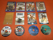 ps2 BROTHERS IN ARMS hill 30 earned blood + MEDAL OF HONOR rising sun frontline