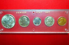 "1969  ""DENVER"" MINT 5-COIN SILVER SET, in WHITMAN DISPLAY CASE, ""BU"" Unc. COINS"