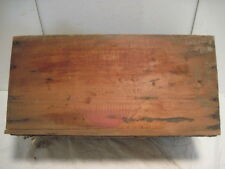 B OLD VINTAGE WOOD-WOODEN CORNED BEEF SWIFT PREMIUM BOX CRATE ARGENTINA