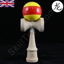 "Dragon Kendama ""Sunset"" Edition full size natural beech wood  Japanese skill toy"