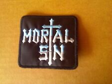 MORTAL SIN,SEW ON EMBROIDERED PATCH