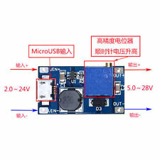 DC-DC Boost Step up Conversion Module MicroUSB 2V-24V to 5V-28V 9V 12V 24V LAUS
