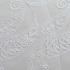 """Designer Chikan Embroidered 43""""Wide Cotton Sewing Material Fabrics By 1 Metre"""