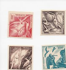 MONACO MNH C41-C44 VERY RARE , IMPERFORATED PROOF IN DIFF COLORS OF ISSUANCE