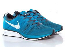 Nike Flyknit Trainer Size 11.5 Neo Turquoise White Dark Grey 532984 410 NEW