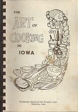 THE ART OF COOKING IN *WATERLOO IA VINTAGE *CHURCH OF GOD COOK BOOK *LOCAL ADS