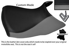 GREY & BLACK CUSTOM FITS BMW R 1200 GS FRONT RIDER  04-12 LEATHER LOW SEAT COVER