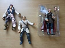 Pirates Of The Caribbean Figures - x2 Will Turner's & Jack Sparrow
