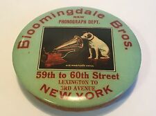 Nipper Dog Edison Phonograph Record Dept Store Advertising His Master's Voice