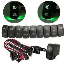 LED LIGHT BAR FOG SPOT WORK ON/OFF ROCKER SWITCH & RELAY WIRING HARNESS LOOM KIT