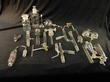 "BIG LOT Various Bits & Pieces LAB GLASS ""STEAMPUNK"" Laboratory Glassware AS-IS"
