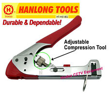 High Quality Ajustable Compression Crimp Tool Crimper for RG-6 RG-59 / BNC F RCA