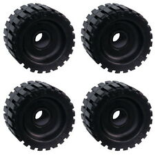 "4 Pack 3"" Wide x 4-3/8"" OD Boat Trailer Black Rubber Ribbed Wobble Rollers"
