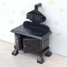 Vintage 1:12 Dollhouse Miniature Wooden Furniture Kitchen Cooker Stove with Pipe