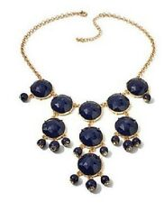 """IMAN Global Chic Luxury Resort Classic Navy Goldtone 18-1/2"""" L Necklace HSN Sold"""