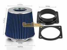 Mass Air Flow Sensor Intake Adapter + BLUE Filter For 95-03 Mazda B4000 4.0L V6